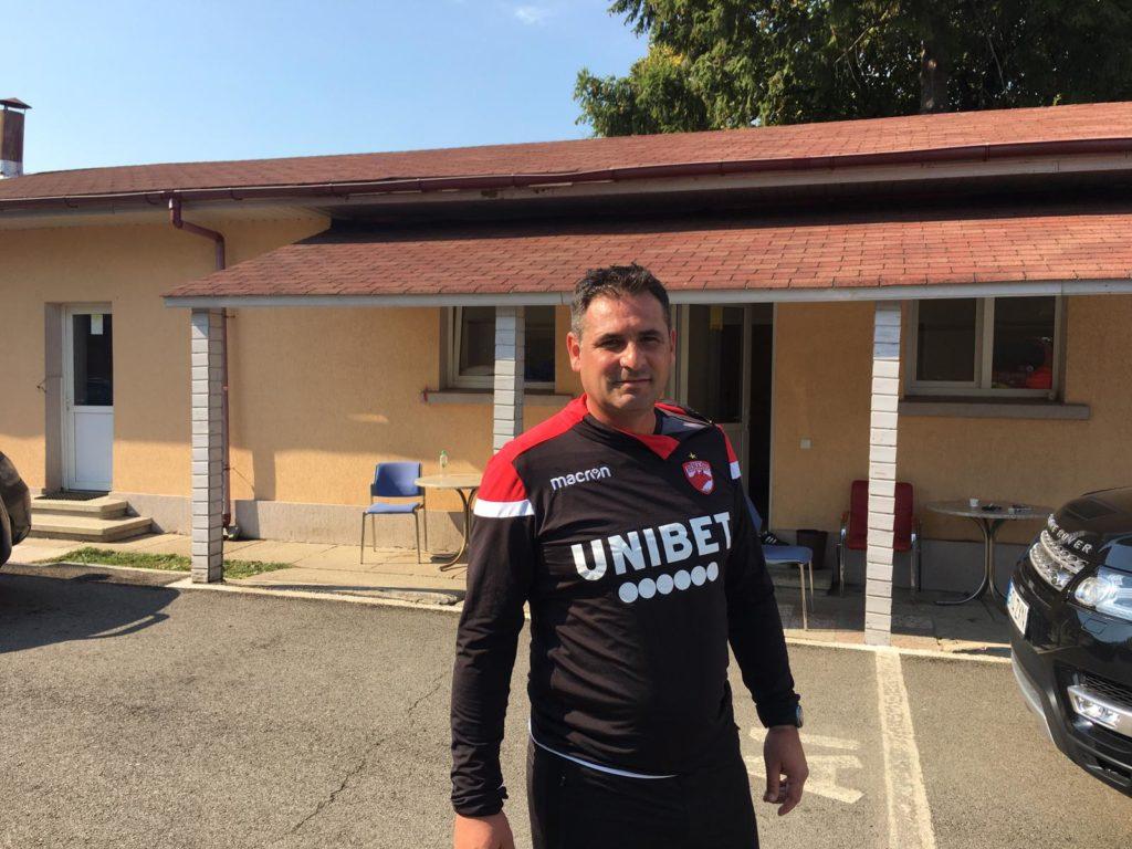 Dragoș Picu după antrenamentul de astăzi al lui Dinamo. Sursă foto: doardinamo.ro